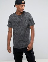 Pull&Bear T-Shirt With Palm Tree Print In Gray