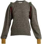 Toga Bead-embellished wool-blend sweater