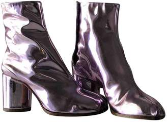 Maison Margiela Purple Patent leather Ankle boots