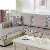 UIOPWKXHNFC Four Sasons Ic Silk Sofa Cushion/Liangxi Rattan Bamboo Sofa Towl/uropan Styl,Fabrics ,Anti-skidding ,Living Room,Sofa Sts