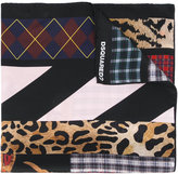 DSQUARED2 mixed print scarf - women - Silk - One Size