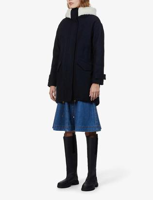 Sessun Sundance faux shearling-lined wool-blend coat