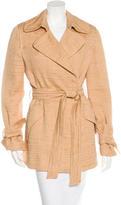 Alberta Ferretti Belted Textured Coat