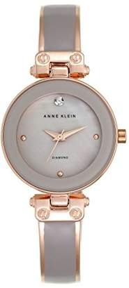Anne Klein Women's Clarissa Quartz Watch with Grey Dial Analogue Display and Grey Metal Bangle AK/N1980TPRG