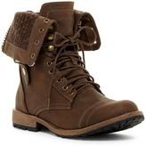 Elegant Footwear Star 8 Combat Boot