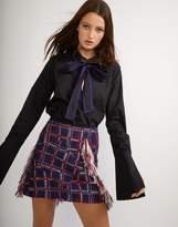 Cynthia Rowley Fringe Tweed Skirt