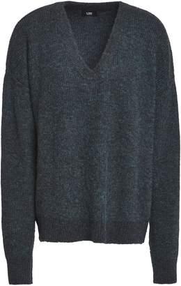 Line Melange Ribbed-knit Sweater