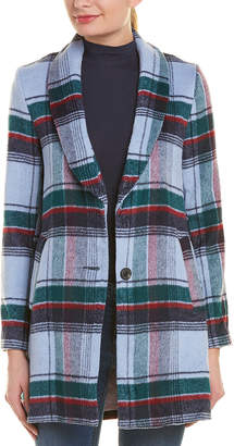 ENGLISH FACTORY Plaid Wool-Blend Coat