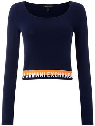 Armani Exchange Hem Logo Jumper