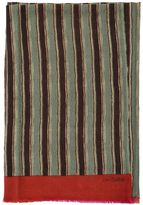 Lisa Corti Striped Printed Cotton Throw