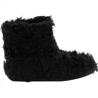 Miu Miu \N Black Faux fur Ankle boots