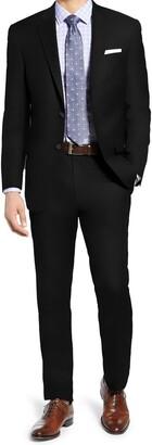 Hart Schaffner Marx Navy Plain Two Button Notch Lapel New York Fit Suit