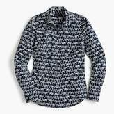 J.Crew Tall slim perfect shirt in elephant print
