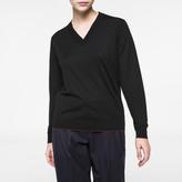 Paul Smith Women's Black Merino Wool V-Neck Sweater
