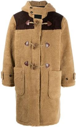 Drôle De Monsieur Hooded Duffle Teddy Coat