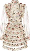 Zimmermann Mischief Floral Silk Mini Dress