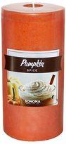 "SONOMA Goods for LifeTM 6"" x 3"" Pumpkin Spice Pillar Candle"