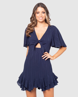 Pilgrim Women's Navy Mini Dresses - Evelyn Mini Dress - Size One Size, 6 at The Iconic
