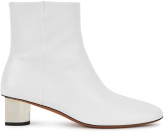 Clergerie Nappa 50 white leather ankle boots