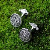 Unique Indonesian Modern Sterling Silver Cufflinks, 'Waterfall'