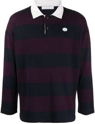 Societe Anonyme Striped Rugby Shirt