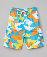 Kanu Surf Aqua Camo Swim Trunk - Toddler & Boys