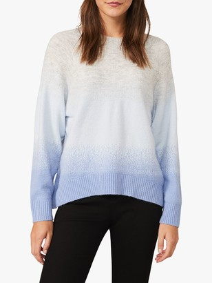 Phase Eight Osanne Ombre Jumper, Soft Blue