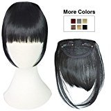 REECHO Fashion One Piece Clip in Hair Bangs / Fringe / Hair Extensions Color: Black