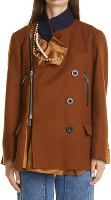 Sacai Melton Wool Jacket