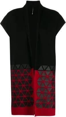 Pierantonio Gaspari Pierantoniogaspari colour-block sleeveless cardigan