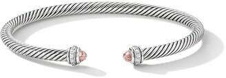 David Yurman sterling silver diamond Cable bangle