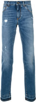 Dolce & Gabbana bootcut jeans - men - Cotton/Leather/Spandex/Elastane/Zamak - 46