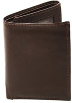 Cathy's Concepts Men's 'Oxford' Monogram Leather Trifold Wallet - Brown