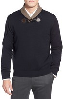Toscano Shawl Collar Pullover Sweater