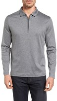 Bugatchi Men's Long Sleeve Quarter Zip Polo