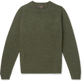 Beams Mélange Wool Sweater - Green