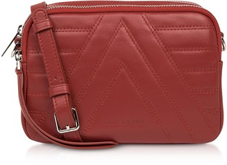 Lancaster Paris Red Parisienne Quilted Leather Crossbody Bag