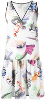 Kenzo flared shift dress - women - Silk - 40