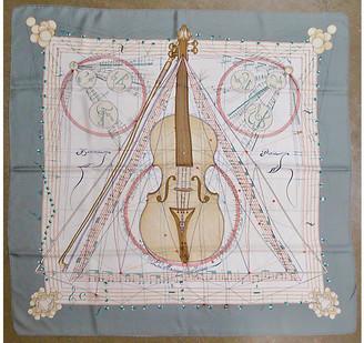 One Kings Lane Vintage Hermes Musique Des Spheres Scarf w/Box - The Emporium Ltd.