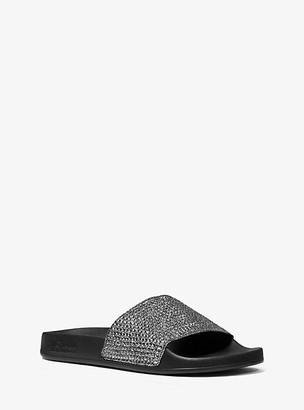 Michael Kors Gilmore Crystal Embellished Slide Sandal
