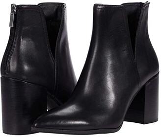 Steve Madden Darci Booties (Black Leather) Women's Shoes