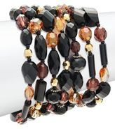 Miriam Haskell Crystal-Studded Locking-Clasp Bracelet