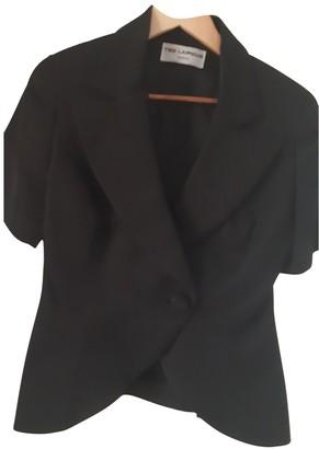Ted Lapidus Black Cotton Jacket for Women Vintage