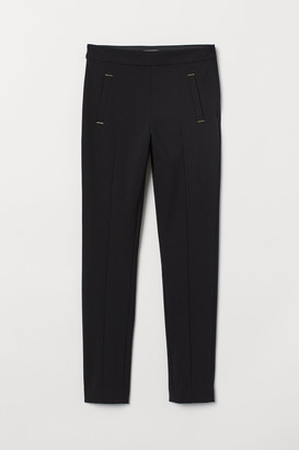 H&M Slim-fit Pants - Black