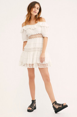 Free People Mixed Emotions Off-The-Shoulder Mini Dress