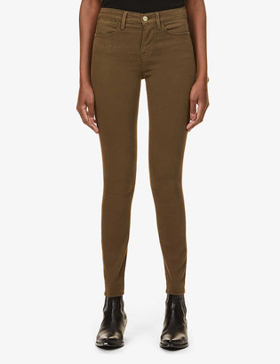 Frame Le High Skinny high-rise stretch-denim jeans