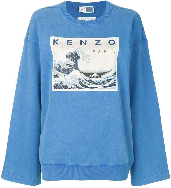 Kenzo Kanagawa Wave Memento sweatshirt
