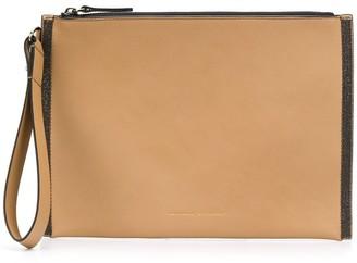 Brunello Cucinelli wrist strap clutch bag