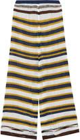Missoni Striped crochet-knit wide-leg pants