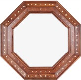 The Well Appointed House Rosewood and Bone Wall Mirror